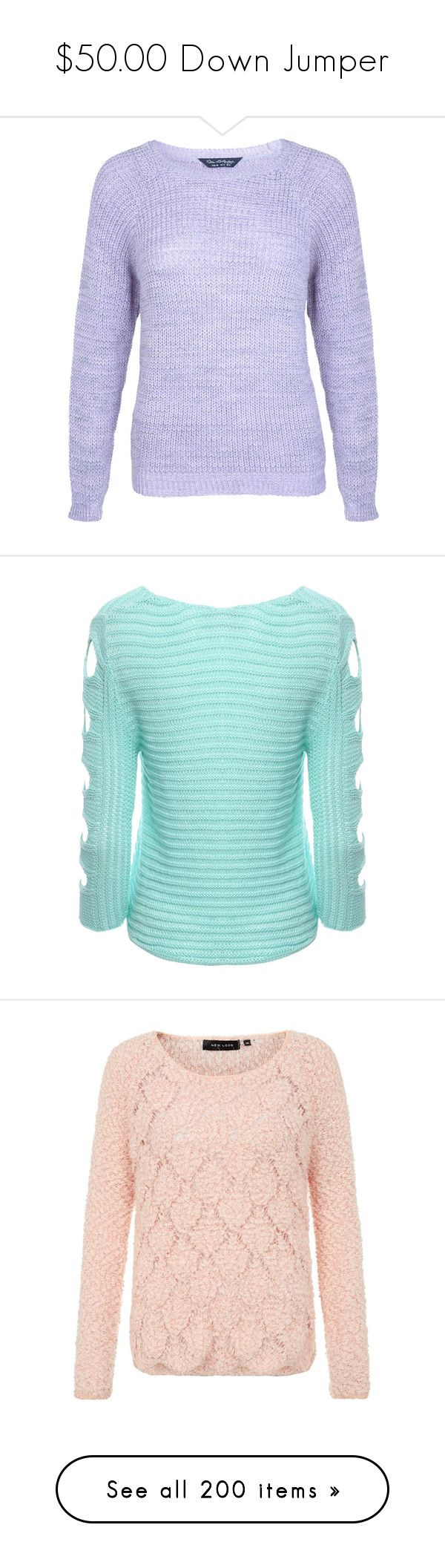 """""""$50.00 Down Jumper"""" by pinky-chocolatte ❤ liked on Polyvore featuring tops, sweaters, purple, jumpers sweaters, acrylic sweater, purple sweater, miss selfridge, jumper top, aqua and cutout tops"""