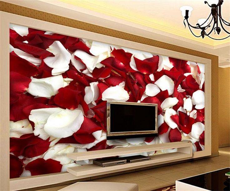 3D фото обои/пользовательские HD фото обои/Романтические цветы белые и красные розы/ТВ/диван/постельные принадлежности/КТВ/Отель/гостиная/Дети