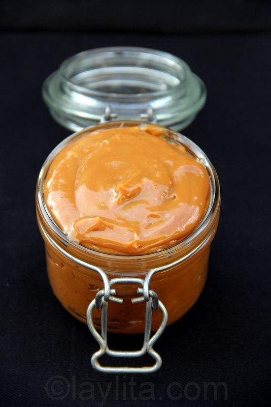 Homemade dulce de leche (though the amount of sugar shocks me! Milk is sweet enough without any added sugar, I think...)