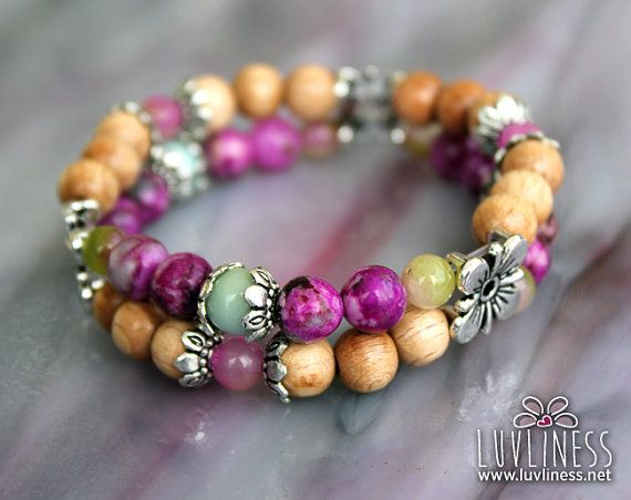 Finding Courage in Love Spring Blossom Gemstone Mala by luvliness