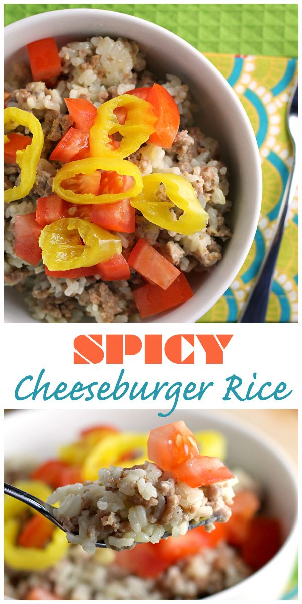 This spicy cheese rice bowl is an easy, hearty dinner loaded with ground turkey, pepper jack cheese, rice, and peppers.