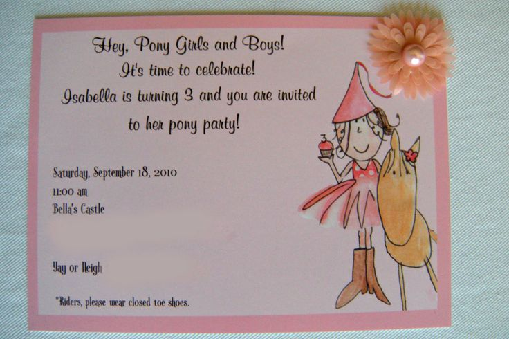 pony party invitations | Invitations: hand painted design uploaded to printmything .com ...