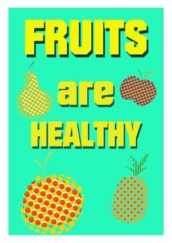 FRUITS POSTERS ( HEALTHY EATING ) - TeachersPayTeachers.com
