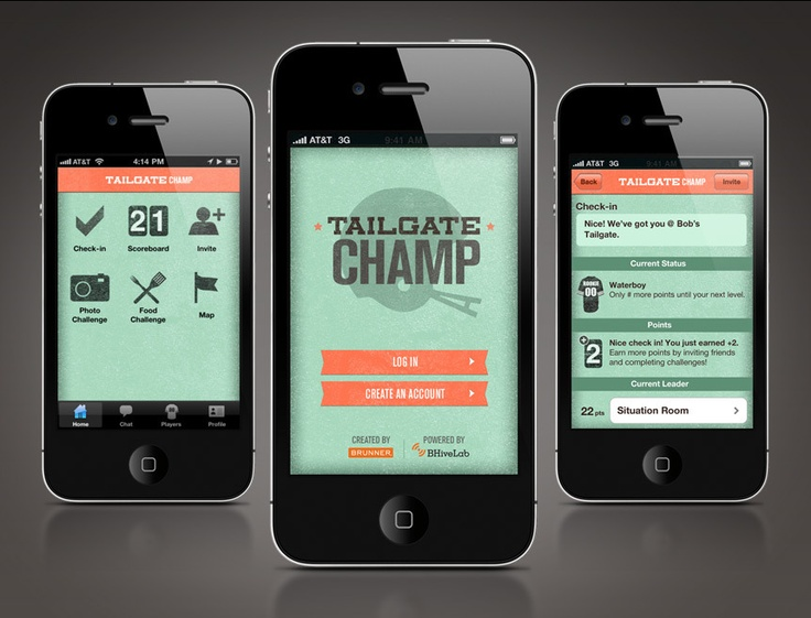 Tailgate Champ #clean #app #design