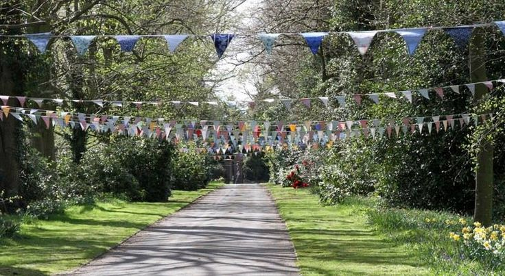 Wedding Event we catered for and also helped with the décor. #theteashop #teashop #barntgreen #bunting #weddingbunting #wedding #weddingcatering #weddingevents