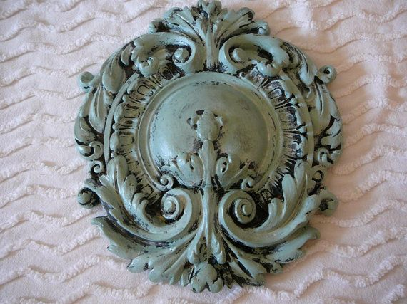 French Inspired Wall Plaque:  Country French, Paris Apartment, Shabby Chic, Romantic Style