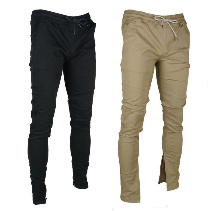 Kayden K Men's Tapered Ankle Zipper Slim Fit Jogger Pants  #KAYDENK #SlimFitJoggerPants
