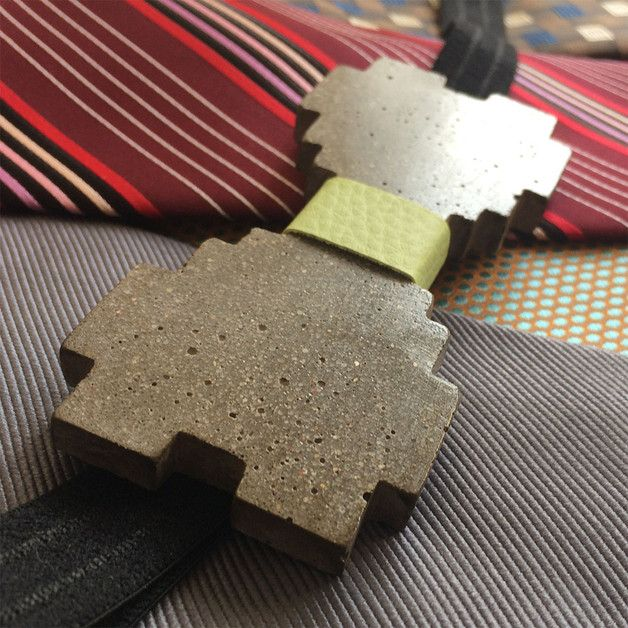 Different concrete rare bowtie 8-bit green is unique product and handmade by Aludana. Concrete butterfly can be a perfect gift for women and men, it is unisex, is for those who love the industry, minimalistic, original and innovative design. This superb pretty bow tie is made of thick concrete. Bowtie have adjustable elastic black belt (rubber). A unique feature fine luxury - the bowtie by Aludana. Unique Bow Tie is a wonderful gift for you, your friends, your loved ones.