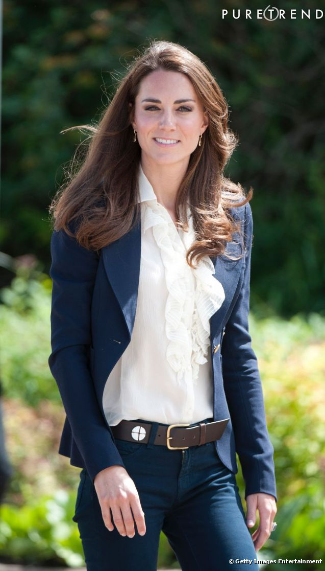 Princess Kate - Can even make jeans, a button down and a blazer look glamorous!!!!!!