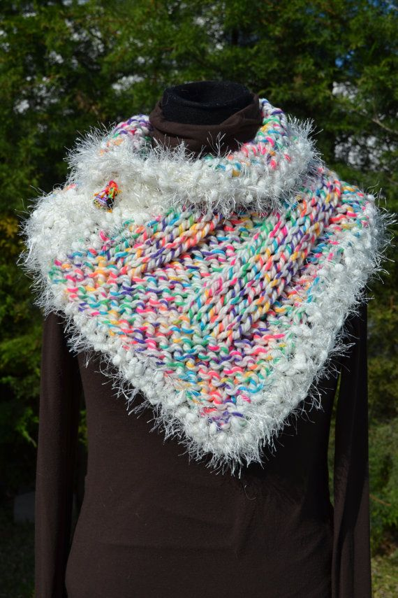 Hand knit Cowl / hand knit neck warmer / hand woven by Cozyyarn, $39.00