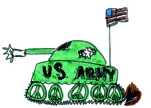 Artwork by a military child.  Click here to submit your child's talents!  http://www.militarychild.org/parents-and-students/programs/the-call-for-the-arts