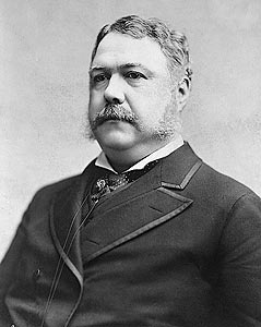 Apparently I am related to this guy on my father's side. Chester Arthur - Twenty-First President of the United States (1881-1885). He was known to be a fashionable man. He actually does resemble my father.