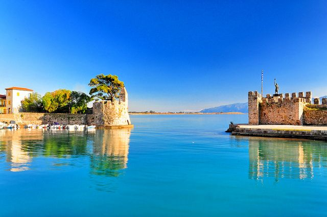 Nafpaktos port entrance, Greece