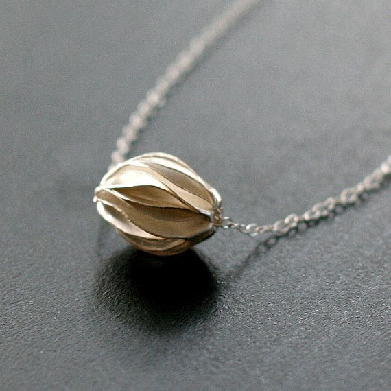 eastern holiday  silver origami necklace by by elephantine on Etsy, $38.00