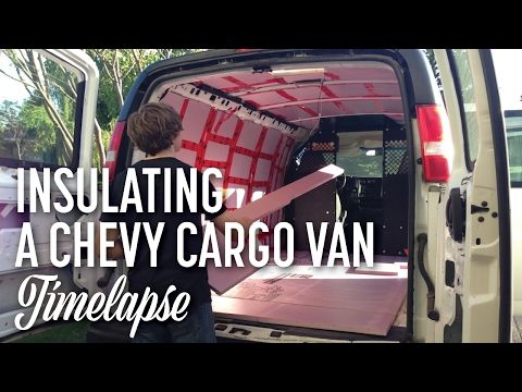 A Timelapse Taken While Installing Polystyrene Insulation In Our DIY Cargo To Camper Van Conversion Not Shown This Video Fibreglass Added