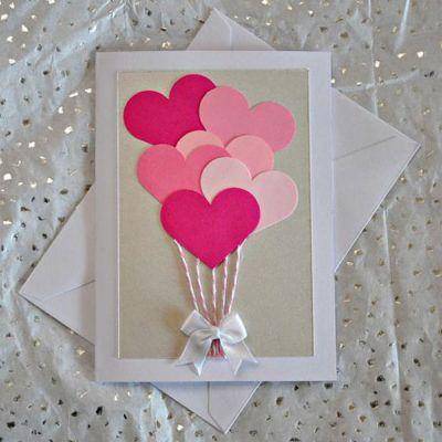 Inspiração: cartão para o dia dos namorados                                                                                                                                                     Mais