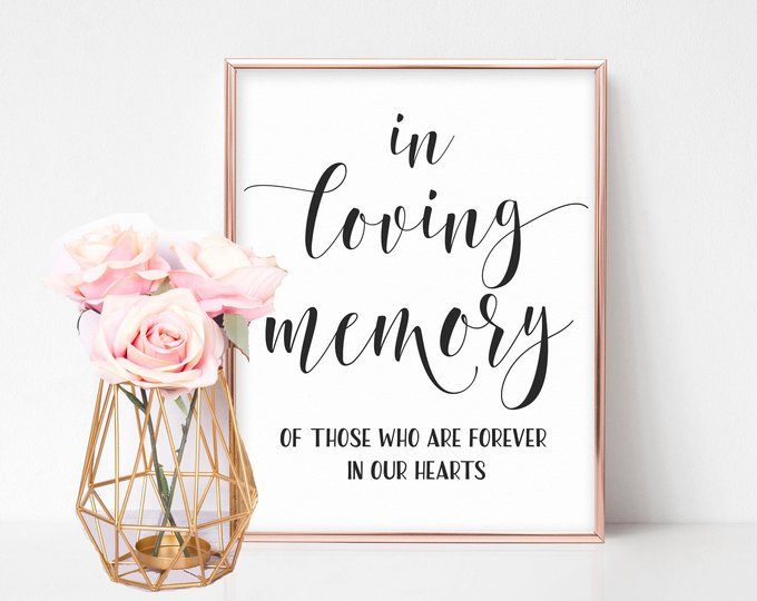 picture about Wedding Signage Printable named Within just Loving Memory Signal, Inside Loving Memory Wedding ceremony Signal