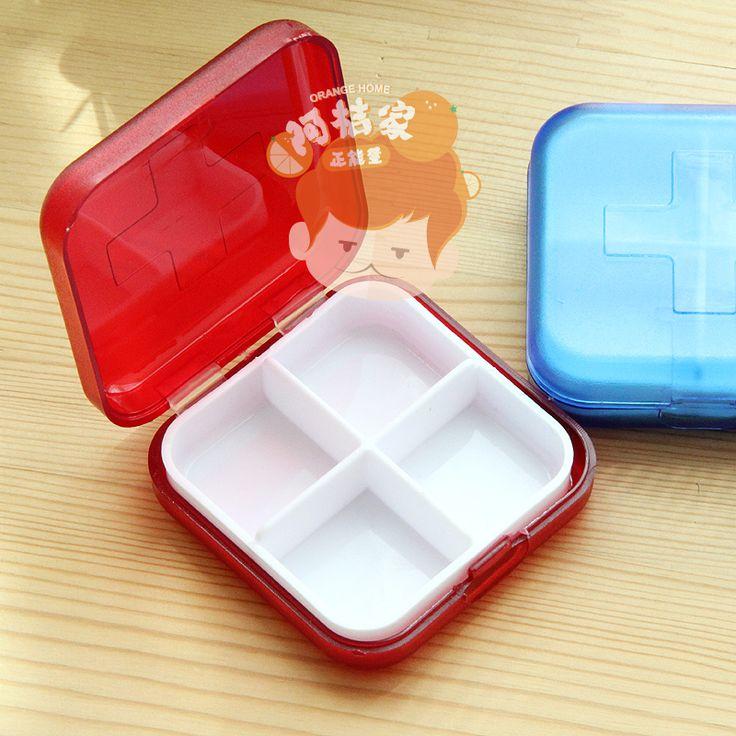 2016 новое поступление аптечка 4 пластиковые пп конфеты альпы глянцевый квадратных ящики для хранения и бункеры творческий мини таблетки окно