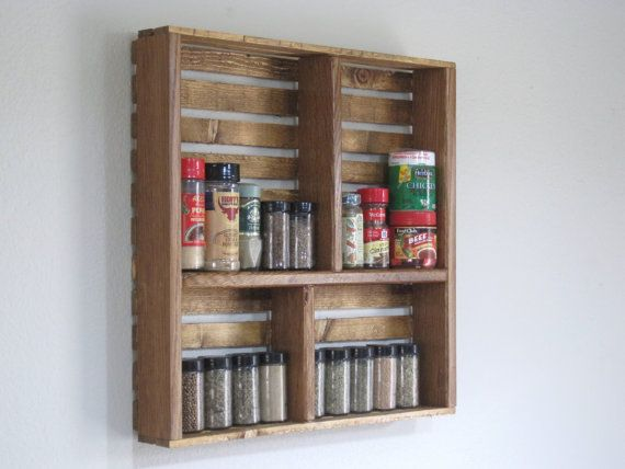 Spice Rack-Knick Knack Display-Wall Hanging-Stained by DREAMATHEME