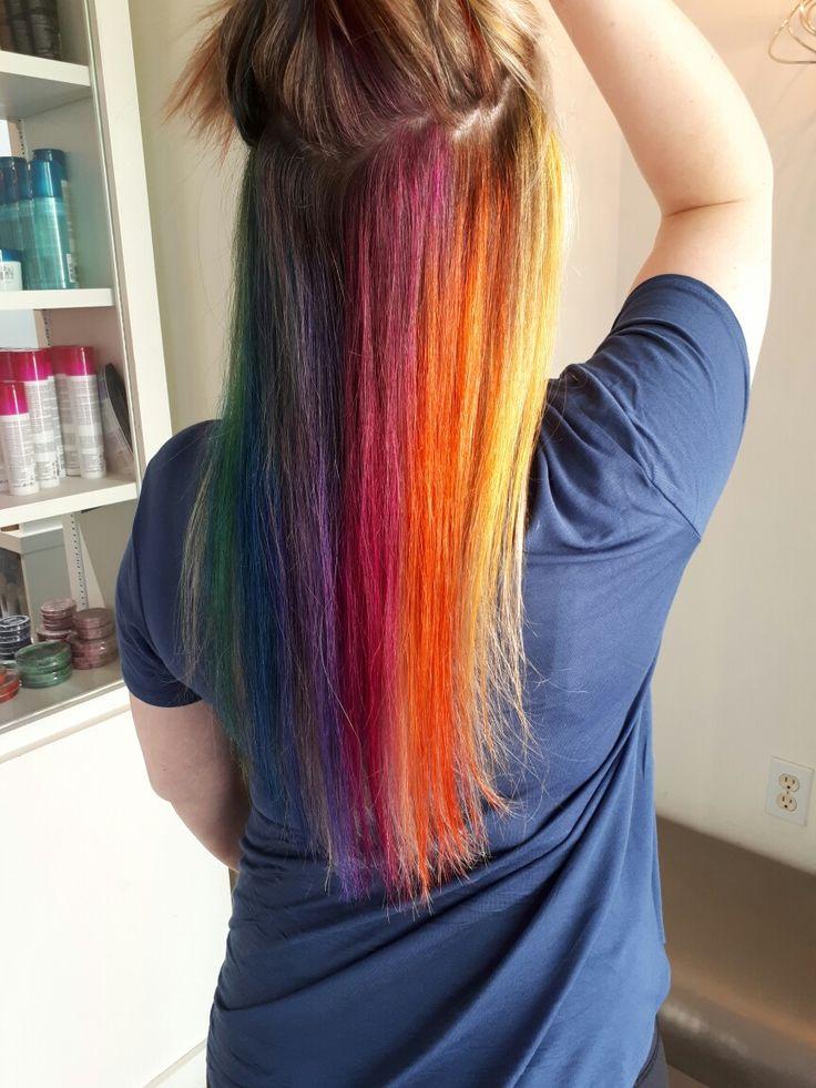 Rainbow hair fun!!