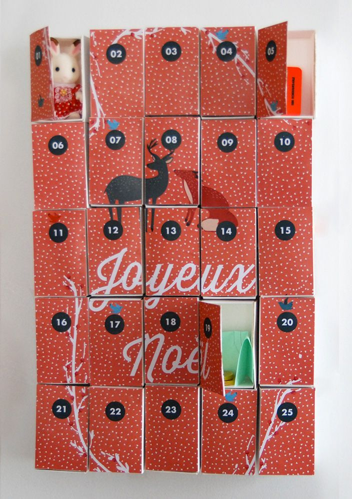 matchbox advent calendar diy with free printable