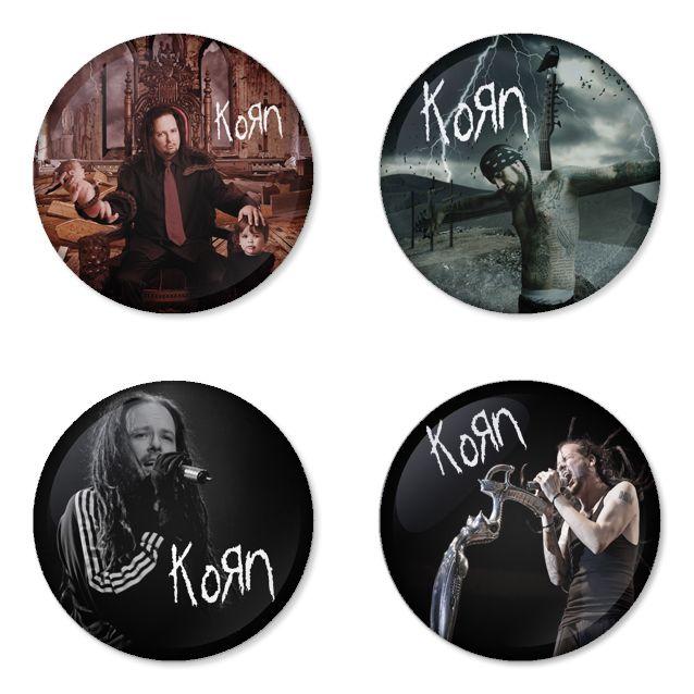 "KORN 1.75"" Badges Pinbacks, Mirror, Magnet, Bottle Opener Keychain http://www.amazon.com/gp/product/B00D6MZ1YE"