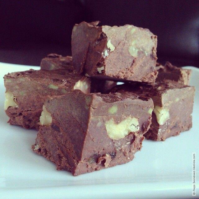 Шоколадные браунис / brownies с авокадо (веганские, подходят для сыроедов)