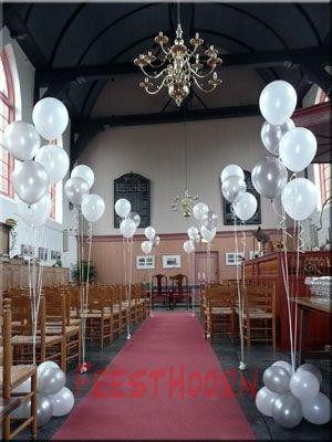 Helium boeketten  www.feesthoorn.nl