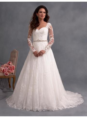 abiti da sposa da sposa applique di pizzo d'epoca