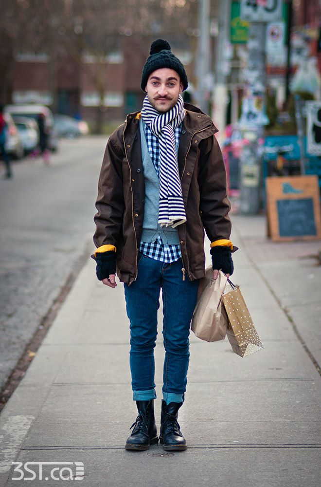 Winter hipster fashion