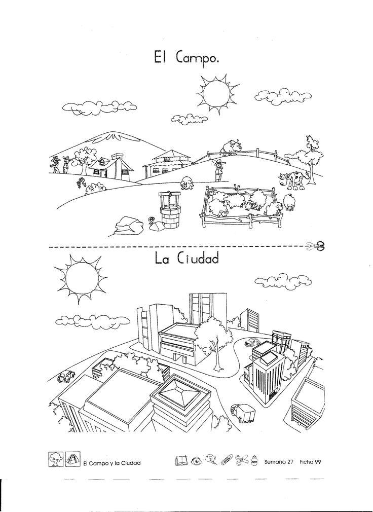 campo y ciudad para primer grado - Buscar con Google | Escuela ...