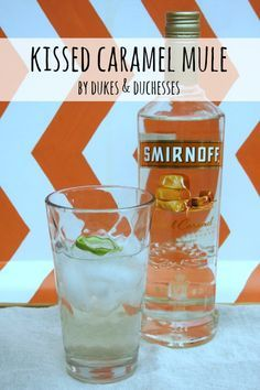 Kissed Caramel Mule-  In a glass over ice, mix 1.5 ounces Smirnoff Kissed Caramel Flavored Vodka, 1.5 ounces ginger ale, 1.5 ounces club soda, a squeeze of lime, and a dash of bitters.