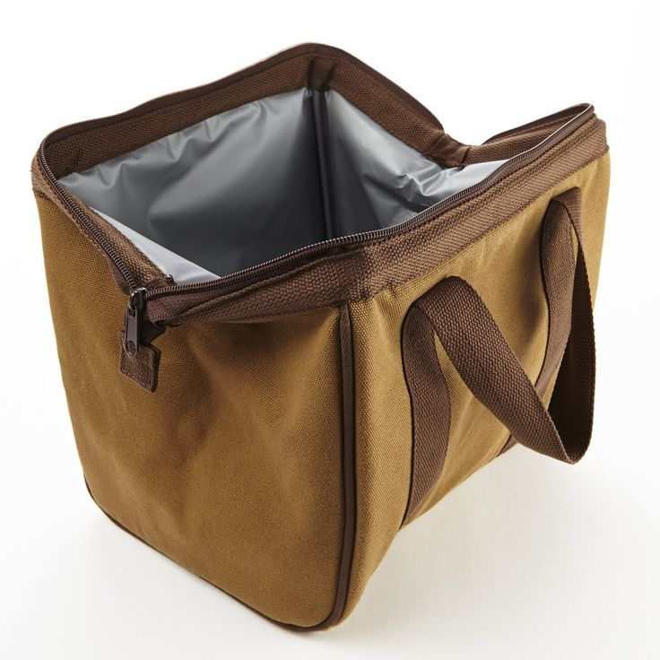 This generously sized insulated lunch bag is the largest of all our men's bags. The Big Phil is made of 16 oz. cotton canvas, with sturdy handles making it extr