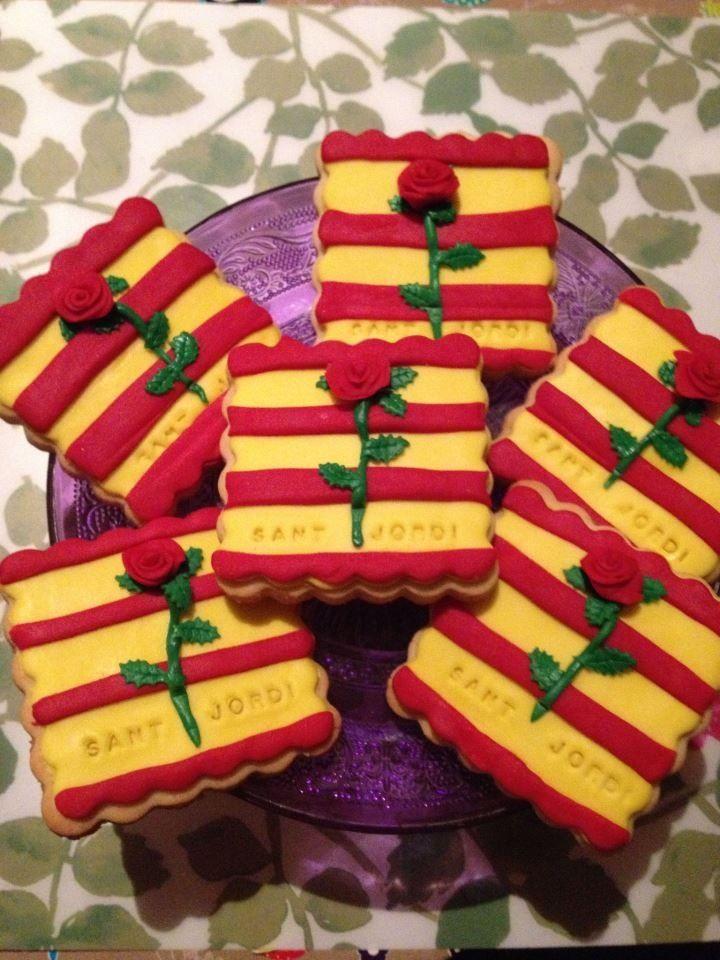 St. George biscuits. Galetes Sant Jordi