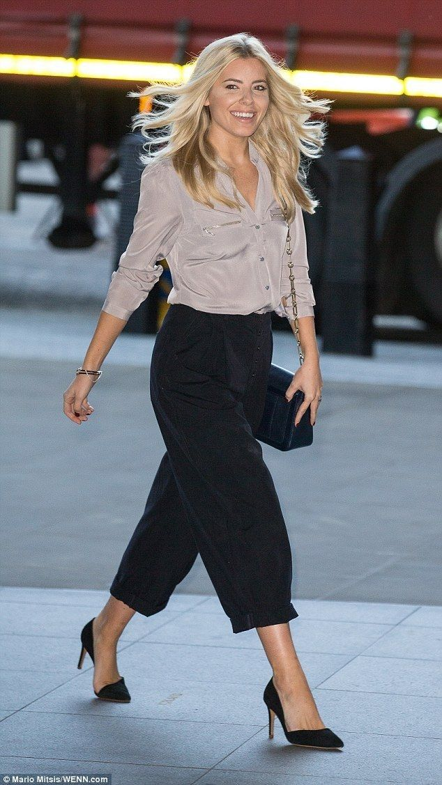 Mollie King.. Oasis shirt, topshop trousers, and Reiss heels..... - Celebrity Fashion Trends