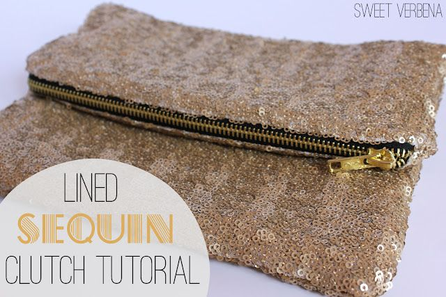 Lined Sequin Clutch With Zipper: a tutorial: Zipper Tutorial, Idea, Clutch Tutorial, Zippers Tutorials, Sequins Clutches, Sweet Verbena, Clutches Tutorials, Diy Accessories, Bags