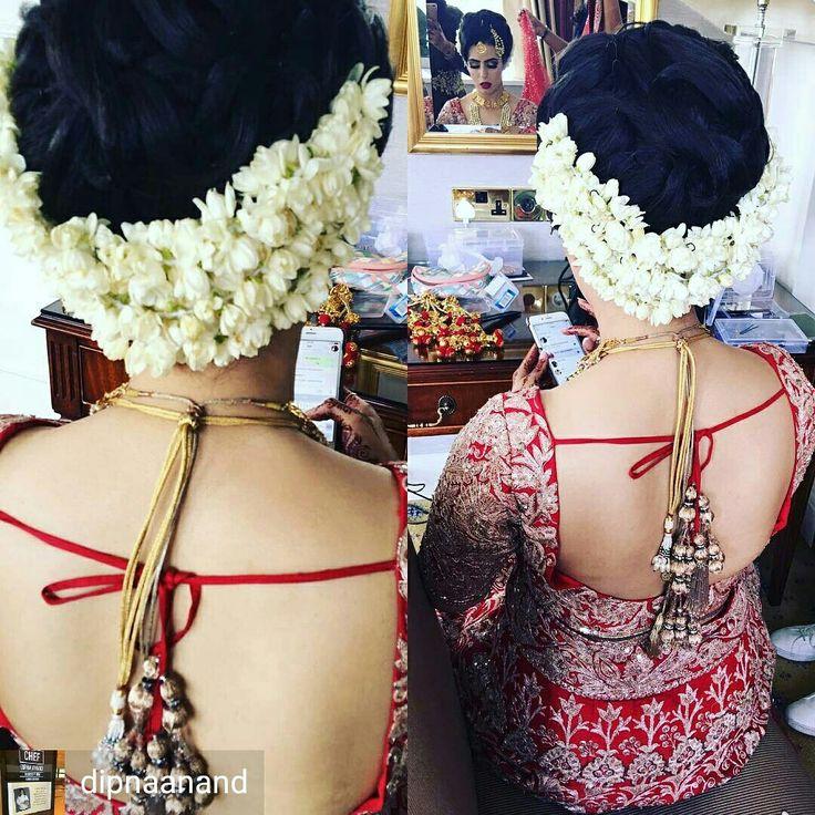 Fresh jasmine hair gajra by Bridal Flower Jewellery www