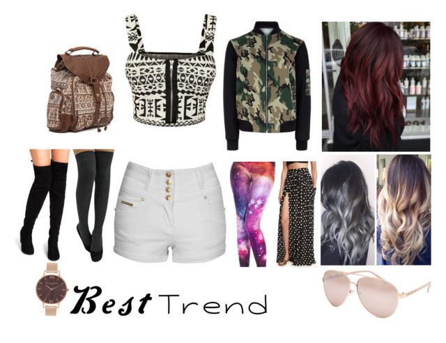 """""""~Best Trends~"""" by snowbella96 ❤ liked on Polyvore featuring Jane Norman, New Look, WearAll, Full Tilt, Mara Hoffman, Olivia Burton and Billabong"""