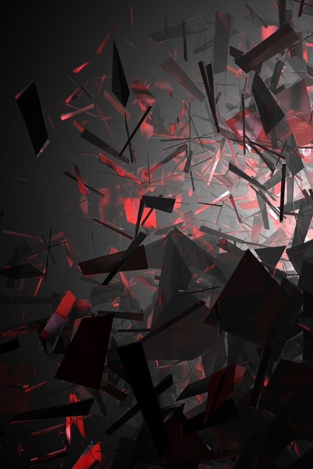 Black And Red Shapes iPhone 4s Wallpaper http//www