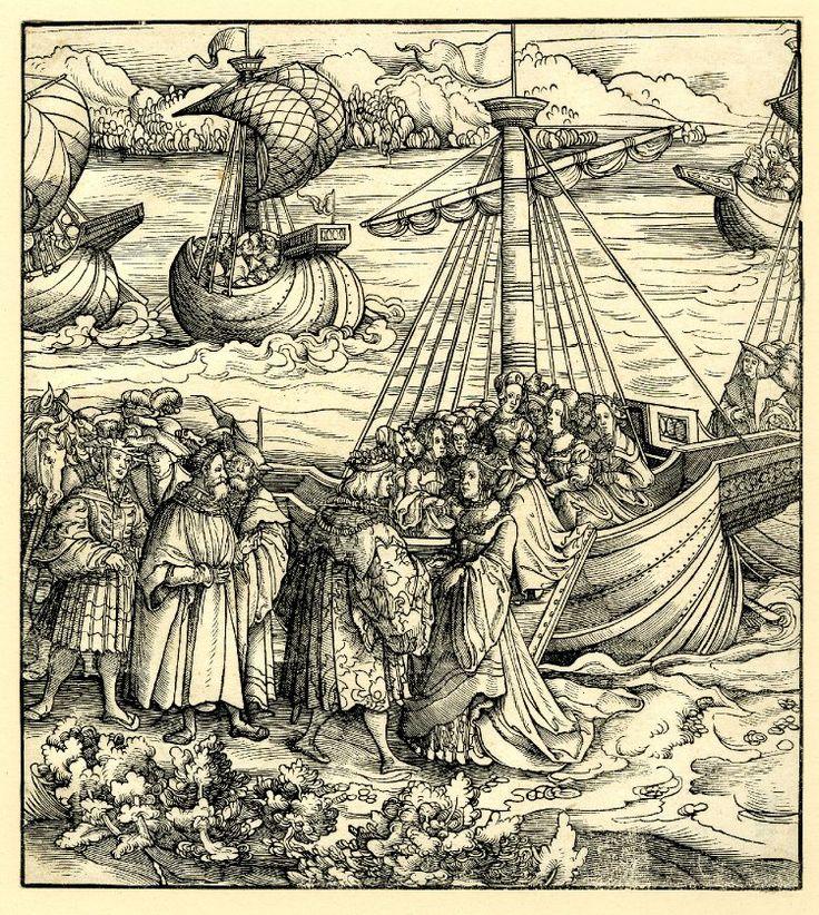 Great Artist Beck Leonhard Title King Philipp recieving his Spanish bride Date