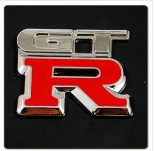 nissan automobile run gtr red 3d metal logo stickers #transformer