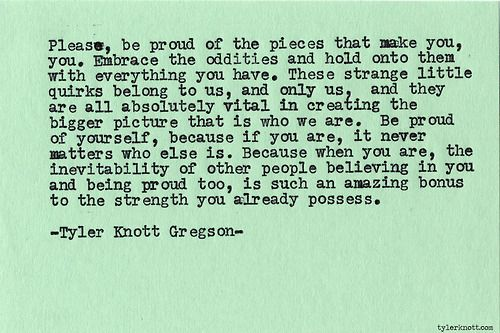 Typewriter Series #504 by Tyler Knott Gregson