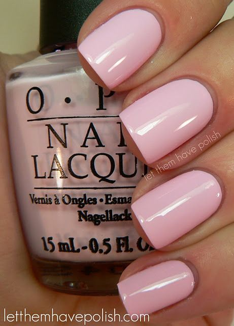 This is my all-time favorite pink nail polish, looks great on every skin tone, and I'm not kidding when I say that I have 3 bottles right now.  OPI Mod About You