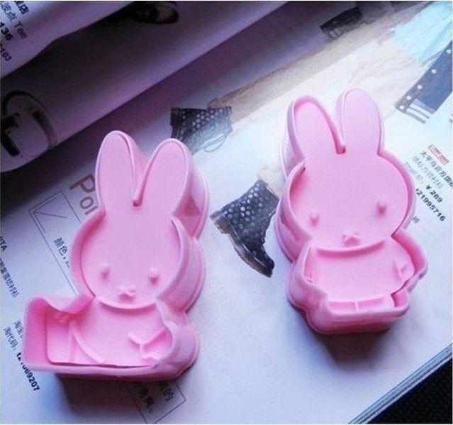 Дешевое Новый продукт ! 2шт / комплект , Кролик Дизайн Мультфильм печенья торт Mold Розовый цвет Набор 020020, Купить Качество Формы для тортов непосредственно из китайских фирмах-поставщиках: