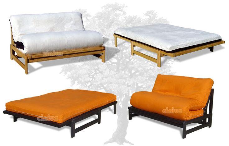 Divano Letto futon modello Roma, con materasso futon