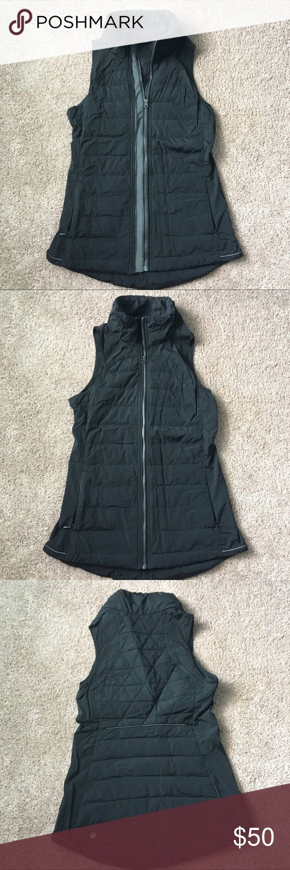 🍋 lululemon vest Great condition vest perfect for layering as fall rolls in or out on a chilly run! Reflective details both in front and back will allow you to remain visible as daylight shortens! This jacket has the option to zip in the front TWO way for the perfect fit. Please no trade requests. lululemon athletica Jackets & Coats Vests