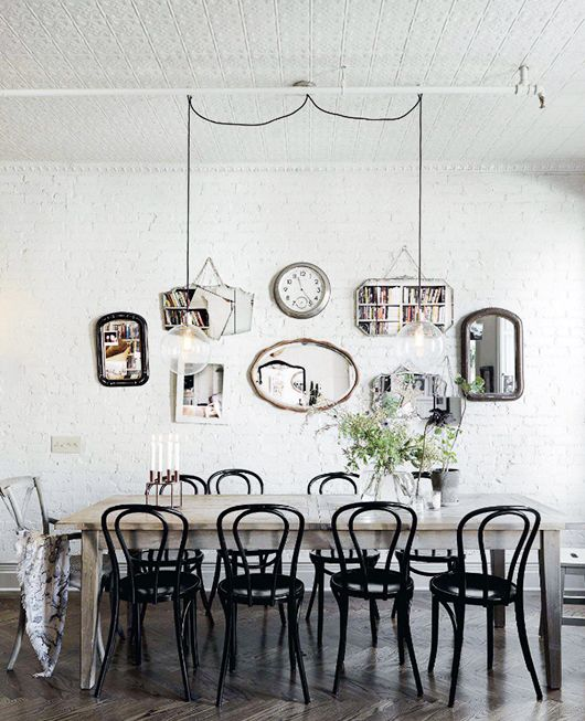 at home in harlem. / sfgirlbybay White, bright and simple contrast colour and those mirrors etc @Andrew Gault