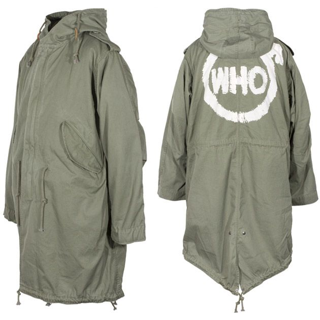 limited edition 'the who' parka coat from the British mod film Quadrophenia, reproduced by Liam Gallagher's label Pretty Green