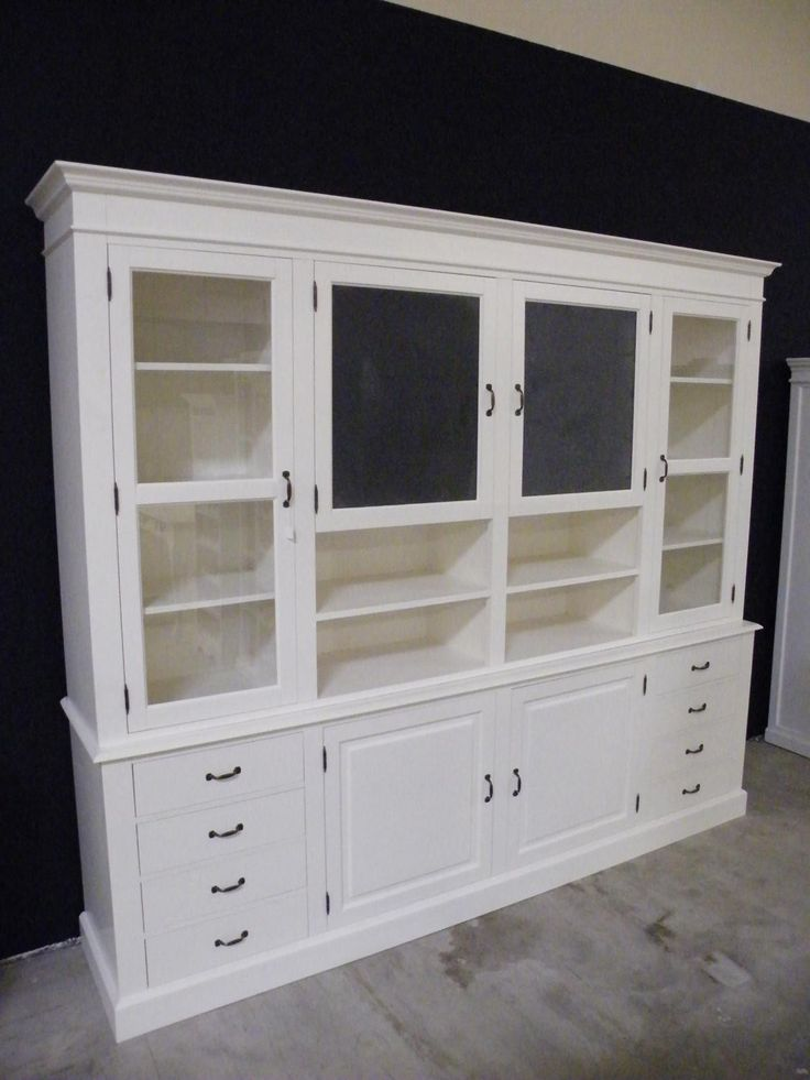 shabby chic buffet vitrine buffet schrank landhausstil shabby chic weiss massiv neu. Black Bedroom Furniture Sets. Home Design Ideas