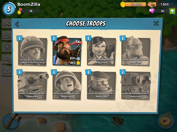 Boom Beach by Supercell - Crew Selection
